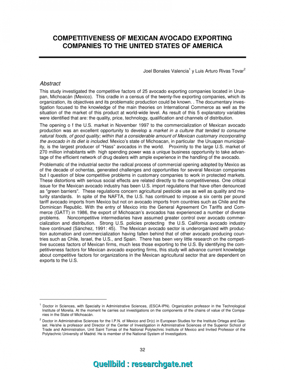 Neu (PDF) COMPETITIVENESS OF MEXICAN AVOCADO EXPORTING COMPANIES TO, UNITED STATES OF AMERICA, American United Packing Sa De Cv