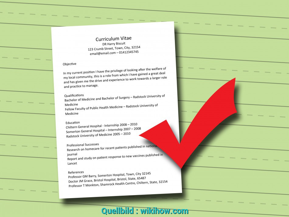 Liebling How To Write A Doctor'S Curriculum Vitae: 7 Steps (With Pictures), Curriculum Vitae 7