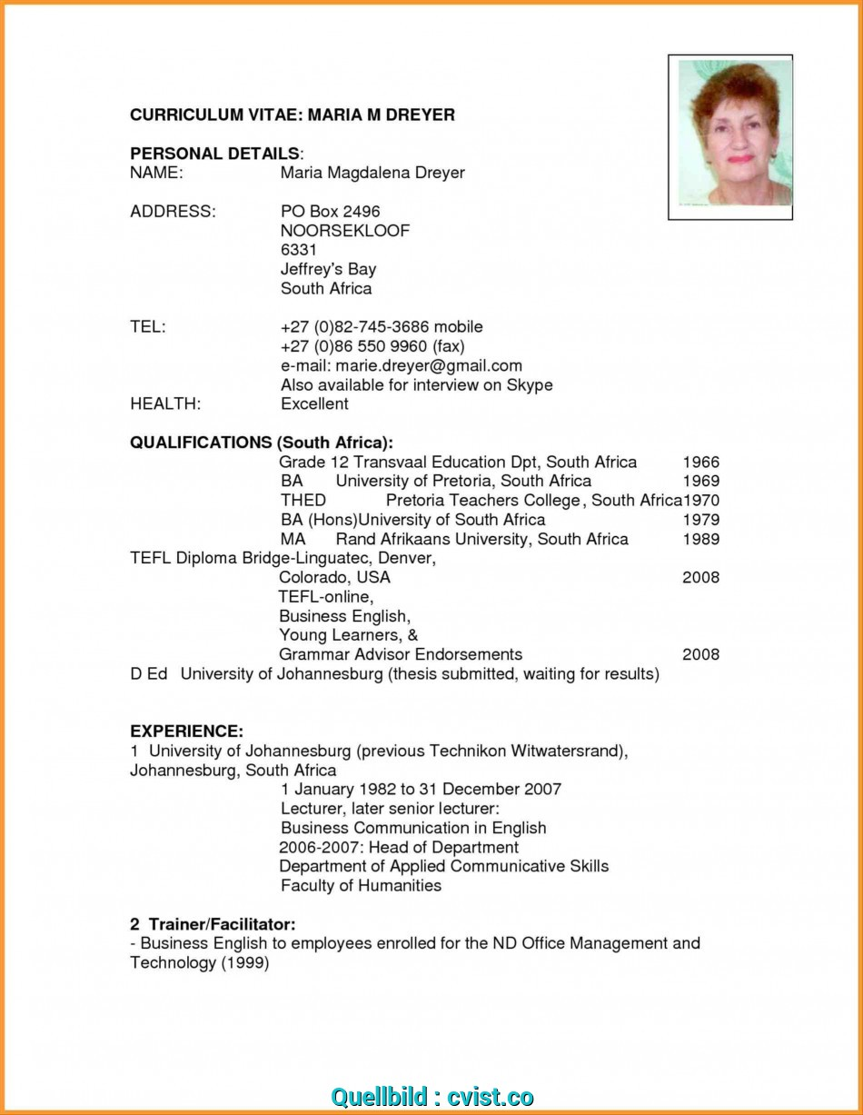 Wertvoll Writing A Cv In English Example At Resume Sample Ideas Cv English, Curriculum Vitae English Personal Details