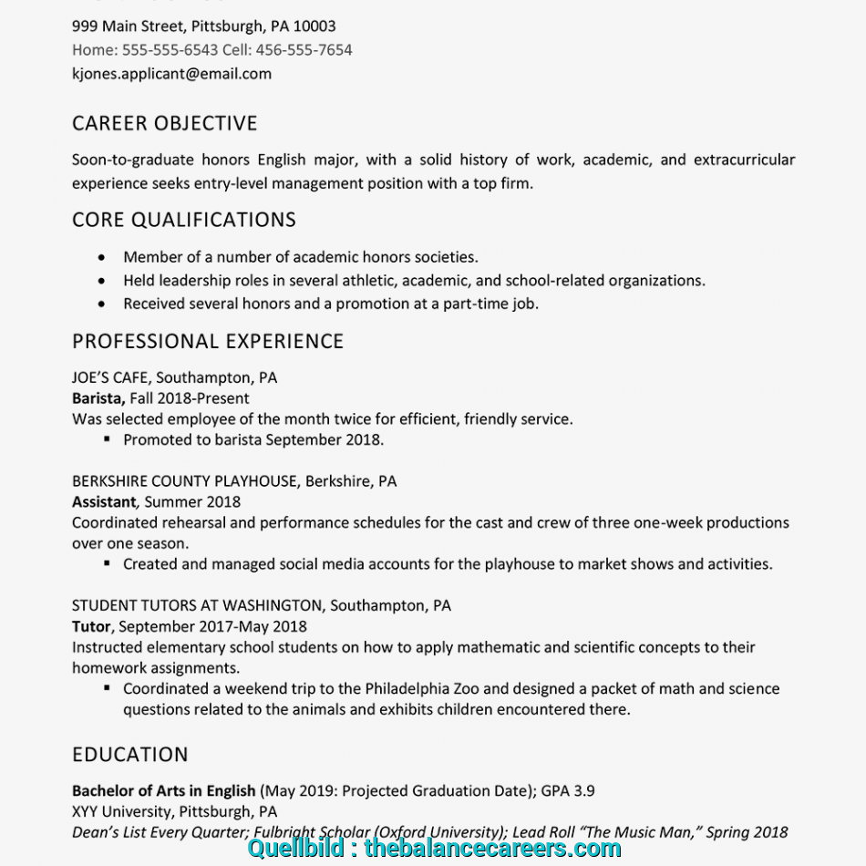 Beste High School Graduate Resume Example, Work Experience ...