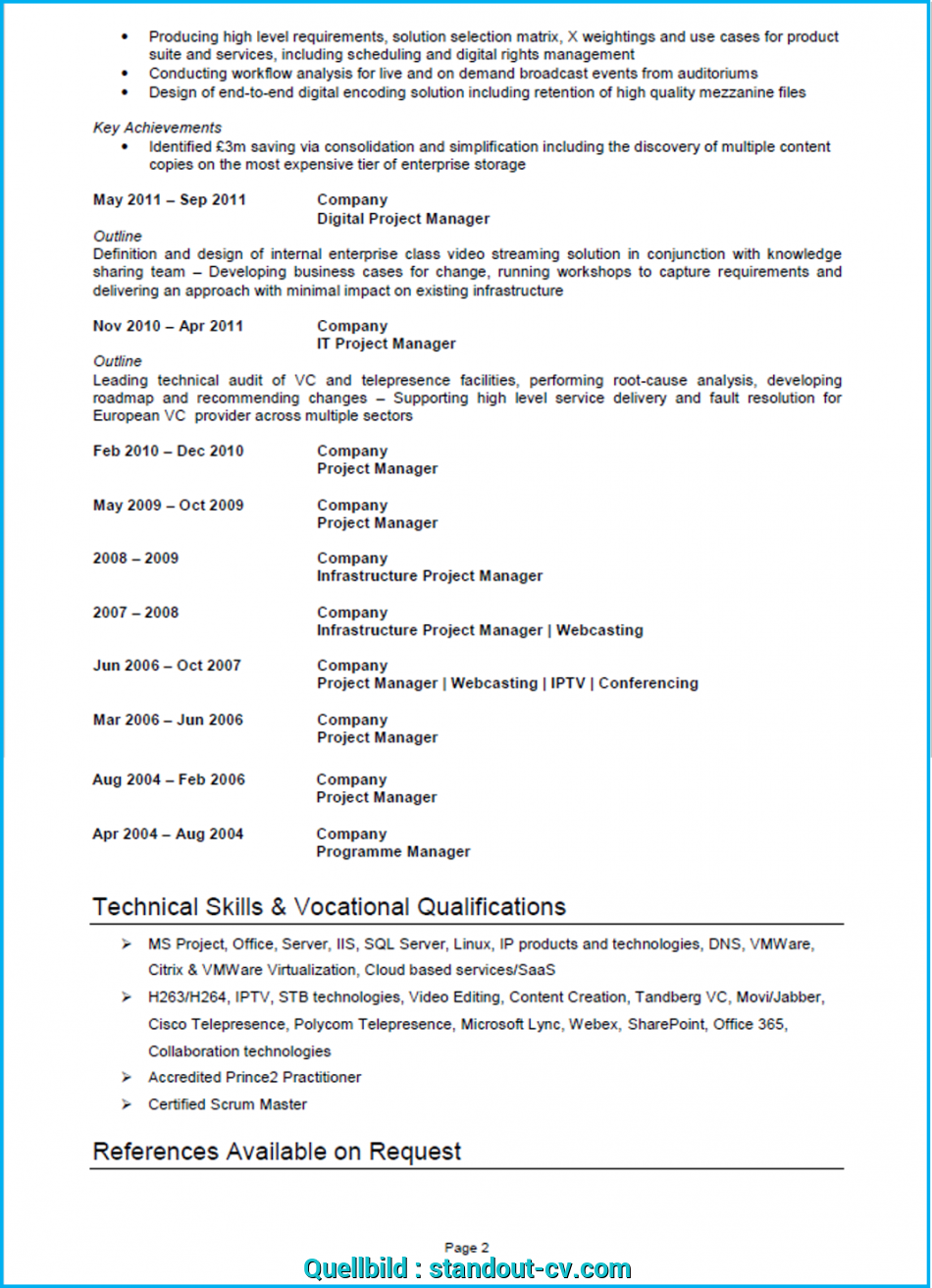Oben Project Manager CV Example, Template, Writing Guide), Cv English Example Project Manager