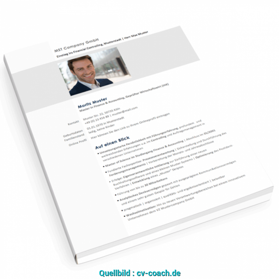 Beste Curriculum Vitae English, Cv Lebenslauf Online