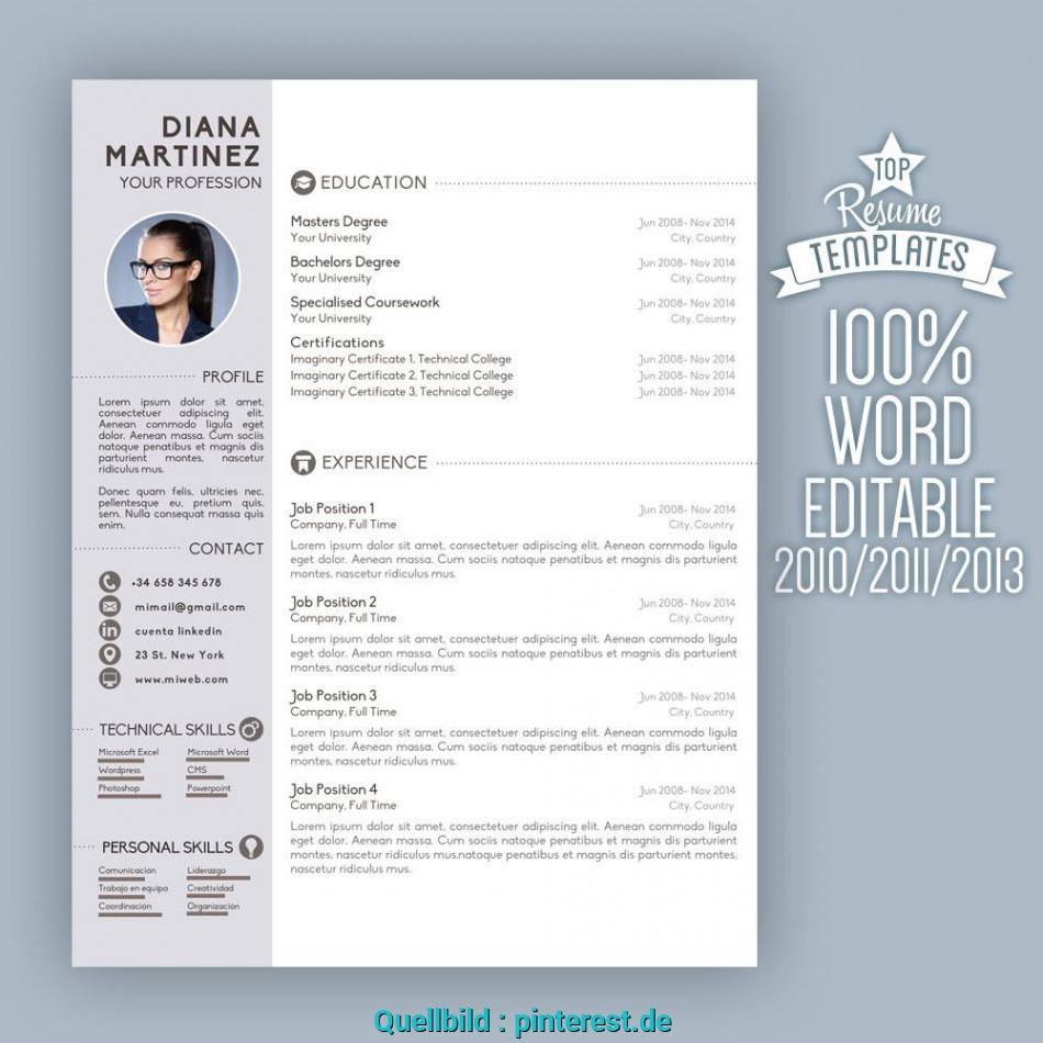 Ausgezeichnet Resume Template Desing + Cover Letter 2 Page ...