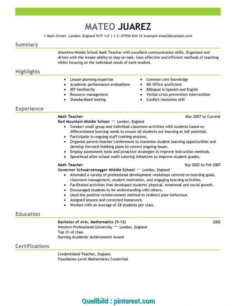 Oben Experienced Teacher Resume Examples Unforgettable Teacher