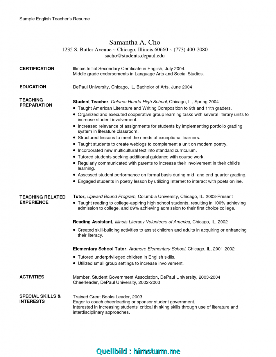 Großartig TEFL Resume Sample CV Format, Teaching English Abroad At ...