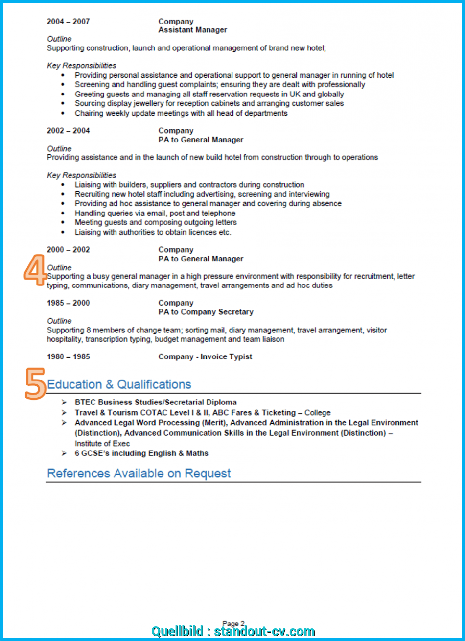 Erweitert Example Of A Good CV 13 Winning Get Noticed How To Do Curriculum Vitae In English Examples