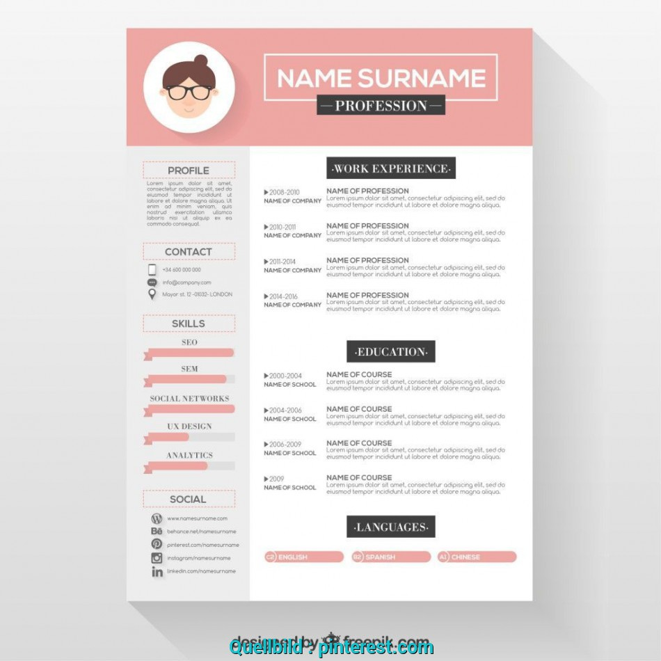 Positiv Free Resume Templates Graphic Design Freeresumetemplates Lebenslauf Layout Kostenlos Download