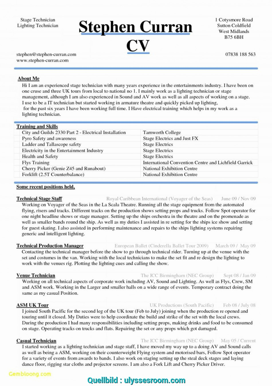 Positiv 007 Download Resume Template Word Lebenslauf Vorlage
