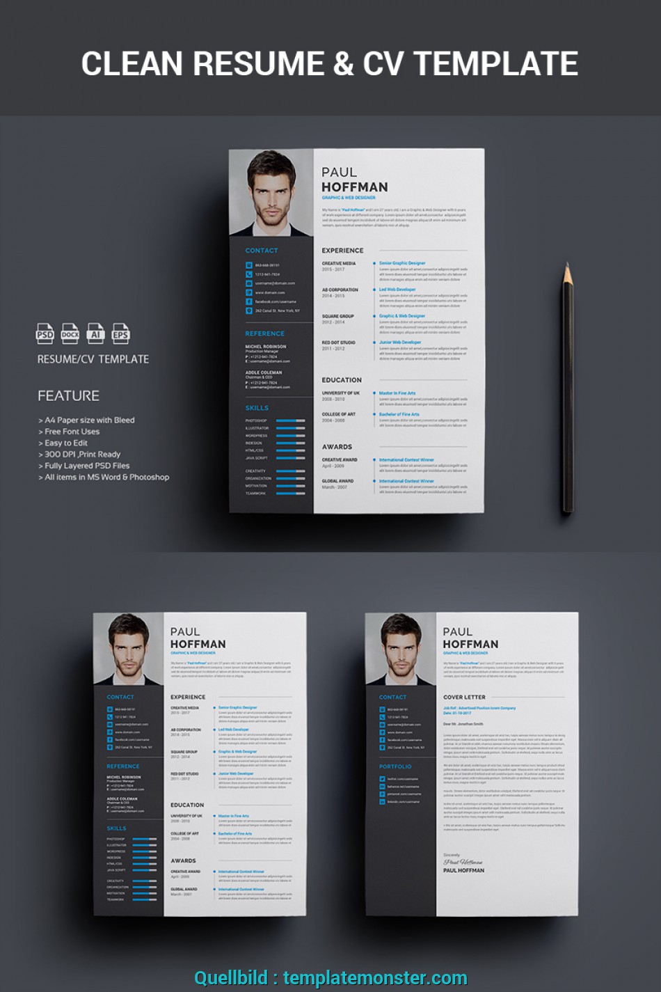 Kostbar 40 Best 2019\'S Creative Resume/CV Templates, Printable DOC ...