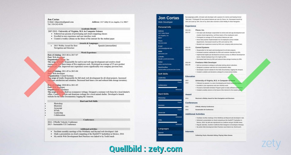 Neueste Free Resume Templates, Word: 15 CV/Resume Formats To Download, Template Cv Word