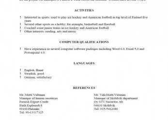 Komplex Cv Template References, 1-Cv Template, Resume Template Examples, American Cv References