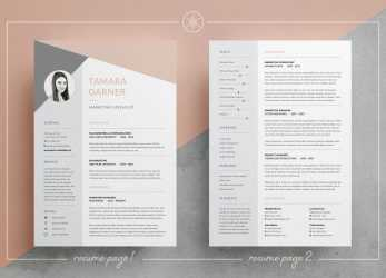 Detail Resume/CV, Cover Letter, Easy To Edit Templates, 3 Page Resume, Professional Design, Instant Download, MS Word, Photoshop, InDesign, Tamara By Keke, Bewerbung Layout Photoshop