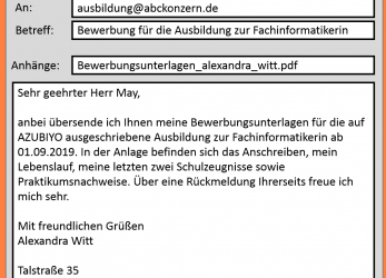 Prime ... Bewerbung, Email Text.Beispiel Emailbewerbung.Png, Bewerbungstext In, Email