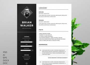 Einfach Free Resume Templates, Word: 15 CV/Resume Formats To Download, Curriculum Vitae English Word Vorlage