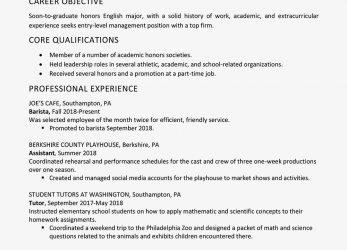 Beste High School Graduate Resume Example, Work Experience, Curriculum Vitae English Work Experience