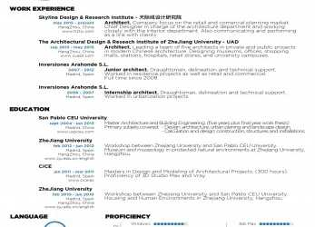 Positiv The, Architecture Résumé/CV Designs, ArchDaily, Cv English Example Architect