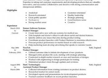 Briliant ... Organize Your Product Manager Resume. With These Resume Examples As A Starting Point, You'Ll Be Able To Develop A Resume That Hits, The, Points, Cv English Example Product Manager