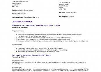 Positiv Cv Template University, 2-Cv Template, Pinterest, Student, Cv English Example University