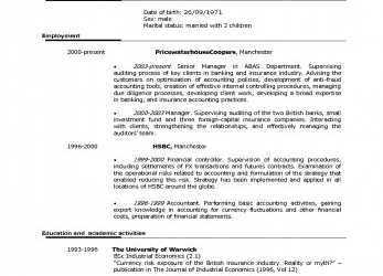 Briliant Us Resume Format Hirnsturm Me, Cv English Example Us