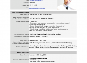 Neueste Free Download Cv Europass, Europass Home European Cv Format Pdf, Cv Europass Download Free