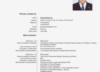 Kostbar Europass Cv English Example, Cv Examples Europass English Cv, Cv Europass English Free Download