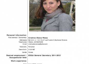 Detail CV-English-CristinaRizea By European Dental Students' Association, Issuu, Cv Europass English Student