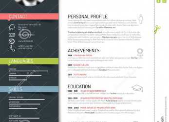 Kreativ Cv / Resume Template, Download From Over 42 Million High Quality Stock Photos, Images, Vectors. Sign Up, FREE Today. Image: 50265809, Cv Template Vector Free Download