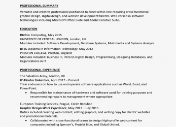 Trending United Kingdom Curriculum Vitae (CV) Example, Cv Uk Beispiel