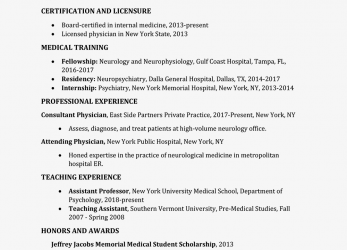 Qualifiziert Screenshot Of A Medical CV Template, English Cv Sample Medical