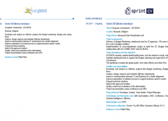 Gut Sprint CV, Europass CV Template, IT Professionals, An Improved Version Of, Original, Europass Download 2017