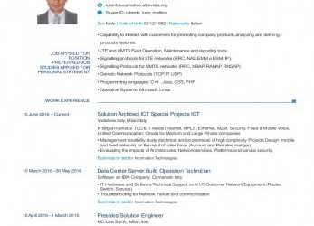 Erweitert CV Ruberto Luca Matteo:, Solution Architect (ITA), Europass Download Ita