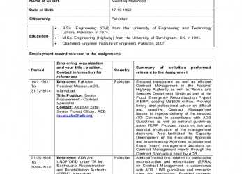 Ausgezeichnet Form Tech-6 Mushtaq (Contract Specialist) Self Signed, Form Tech 6 Curriculum Vitae
