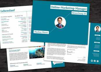 Oben #Bewerbungsvorlage #Onlinemarketing-Manager-, Hingucker Im Querformat. # Bewerbung, #Cvtemplate, #Template #Lebenslauf #Word #Indesign #Coreldraw, Kreative Bewerbung Querformat