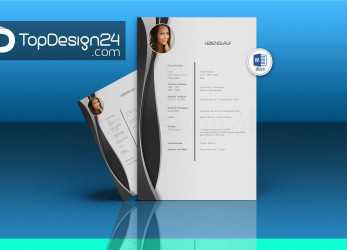 Qualifiziert Professional Resume Template Resume Template, Word Cv Template, Lebenslauf Design Vorlage Word