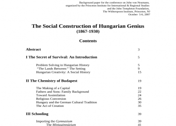 Liebling (PDF), Social Construction Of Hungarian Genius, Lebenslauf, Genius