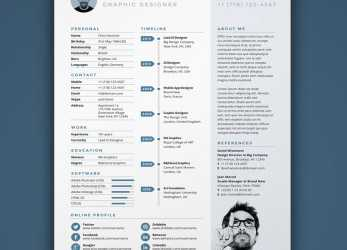 Oben Free Resume Template In Photoshop (PSD), Illustrator (AI), Indesign Formats, Lebenslauf Vorlage Indesign Kostenlos