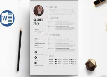Perfekt Clean CV Template Design In Microsoft Word +Docx File, Lebenslauf Word Docx
