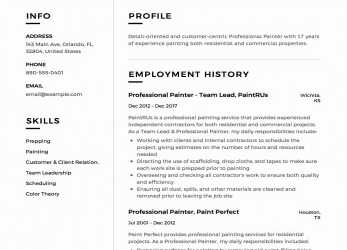 Gut 12 Mercial Painter Resume Sample S 2018 Free Downloads, Curriculum Vitae 5 Pasos, Soc Curriculum Vitae 5 Pasos