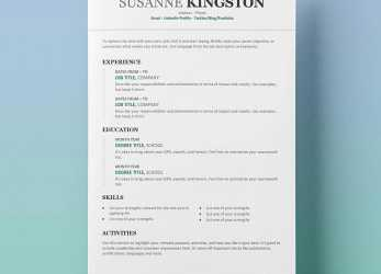Perfekt Free Resume Templates, Word: 15 CV/Resume Formats To Download, Template Cv Resume Word