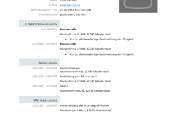Perfekt 36 Templates Lebenslauf Download Vorlage, Any Positions, Vorlage Cv Download