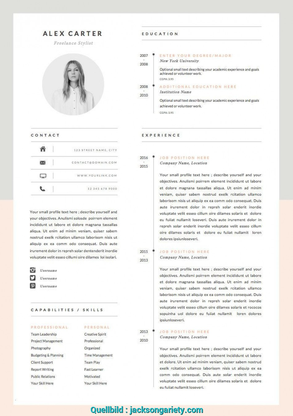 Positiv Modern Resume Template Cover Letter Icon For Microsoft Word Luxus Vorlage Lebenslauf