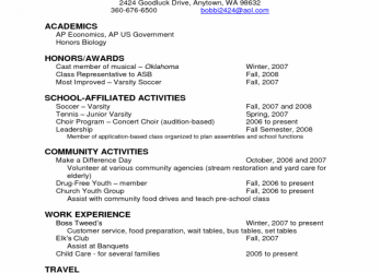 Ausgezeichnet Resume Examples, Sample Academic Resume Academics Scholarship Resume Template Honors Awards School Affiliated Activities Community Activity Work Experience, Academic Cv Example Us