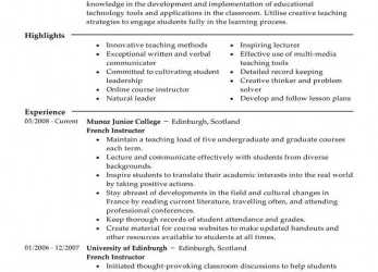 Frisch Best Master Teacher Resume Example, LiveCareer, Cv English Example Master Degree