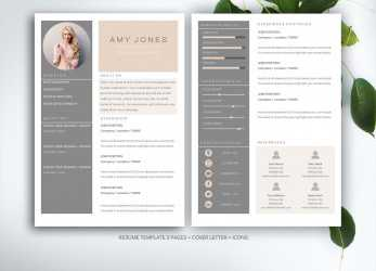 Beste 70 Well-Designed Resume Examples, Your Inspiration, Cv Template Word Design