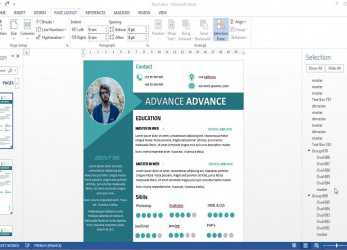 Komplett CV/Resume 2 Pages With Microsoft Word Free DOC+PDF, Lebenslauf 2018 Word